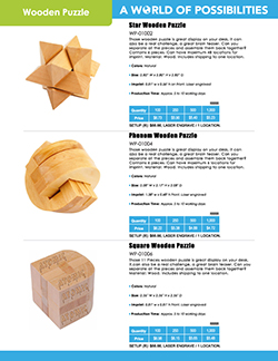 Wooden Puzzle Catalog