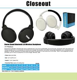 Closeout Wireless Headphones