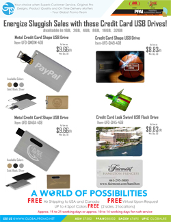 Multi Media Credit Card USB'S
